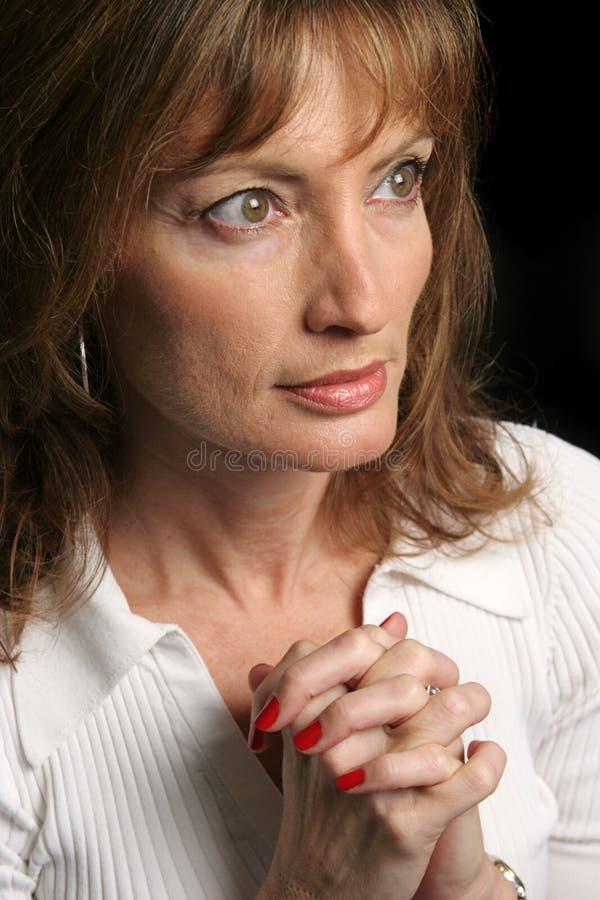 Femme de la foi photo libre de droits