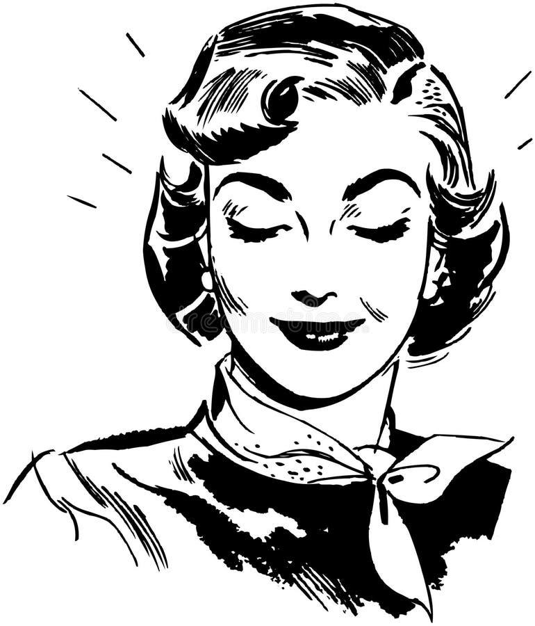Femme de lancement illustration stock