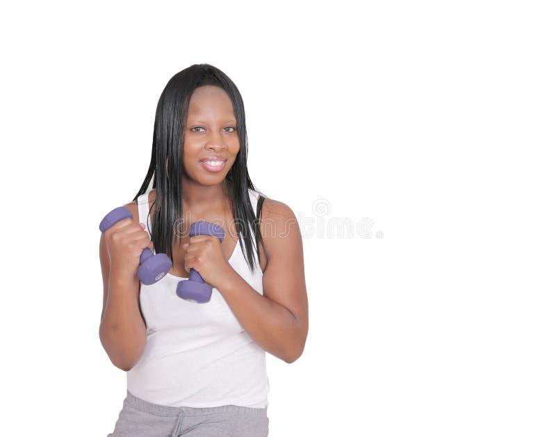 femme de levage de poids photographie stock libre de droits