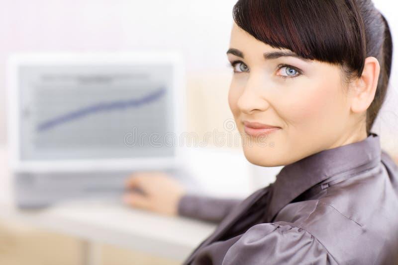 femme de local commercial photo stock