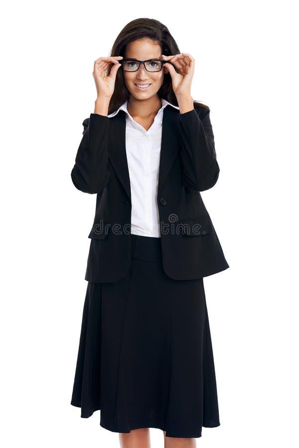 Download Femme de lunettes photo stock. Image du gestionnaire - 45370468