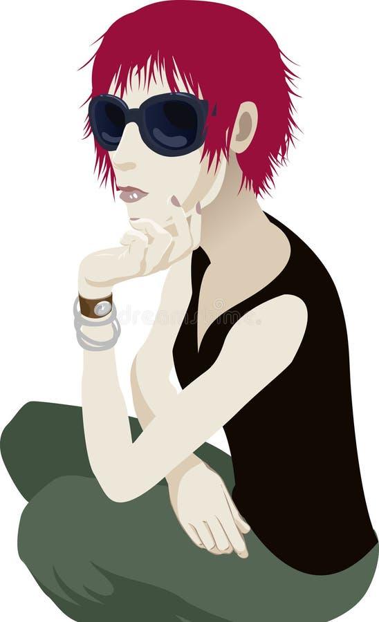 Femme de lunettes de soleil illustration de vecteur