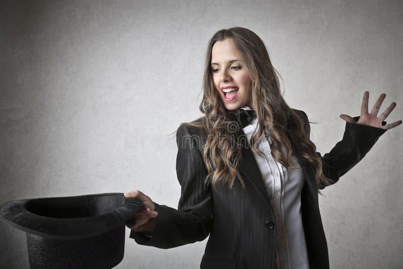 Femme de magicien photographie stock