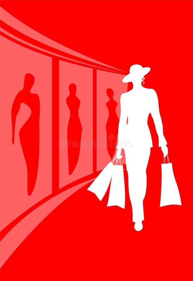 Femme de mode illustration libre de droits