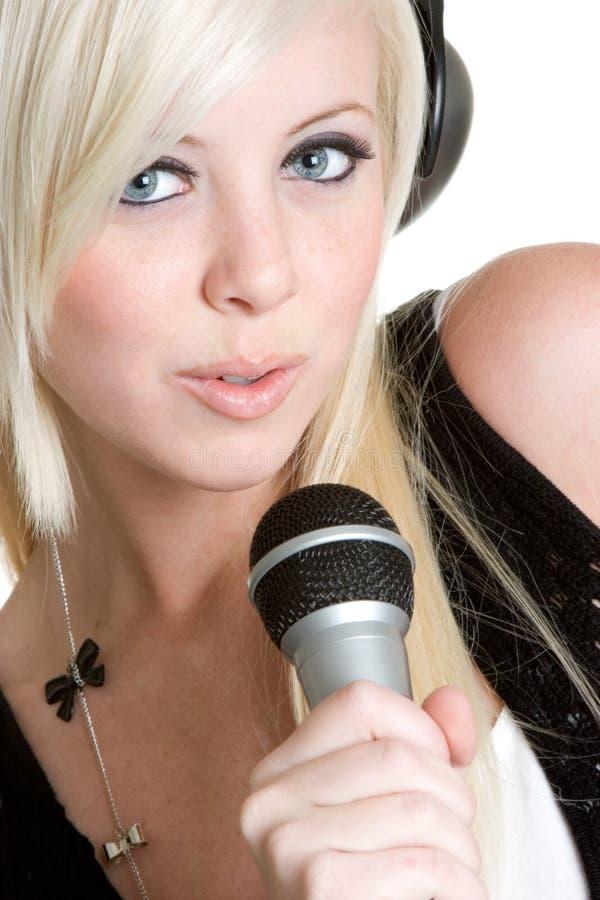 Femme de musique image libre de droits