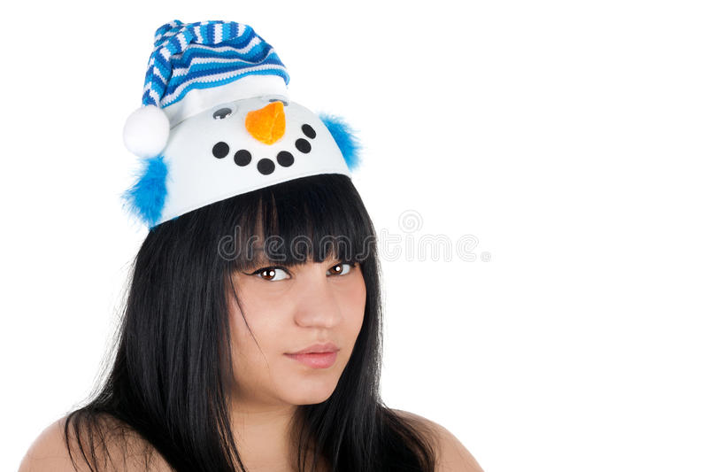 Femme de neige photo stock