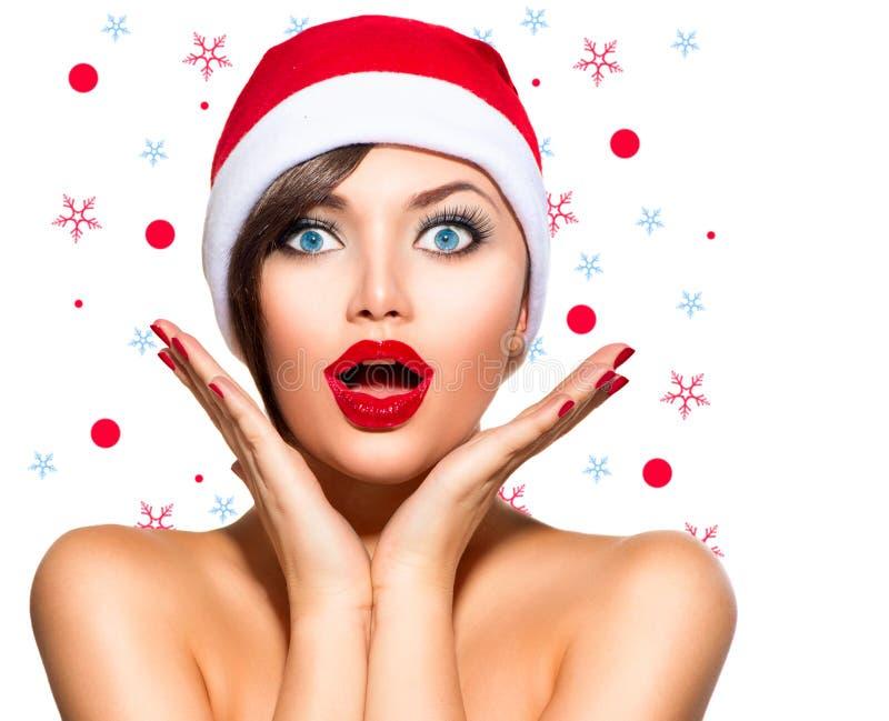 Femme de Noël photo stock