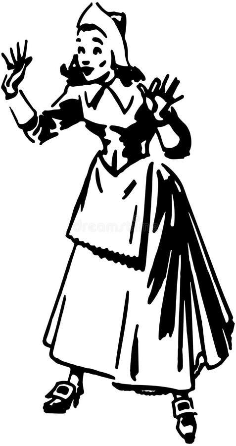 Femme de pèlerin illustration libre de droits