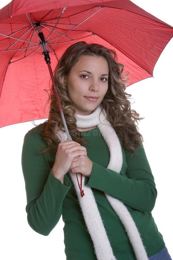 Femme de parapluie photographie stock libre de droits