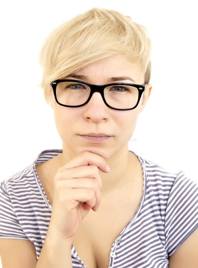 Femme de pensée photo stock