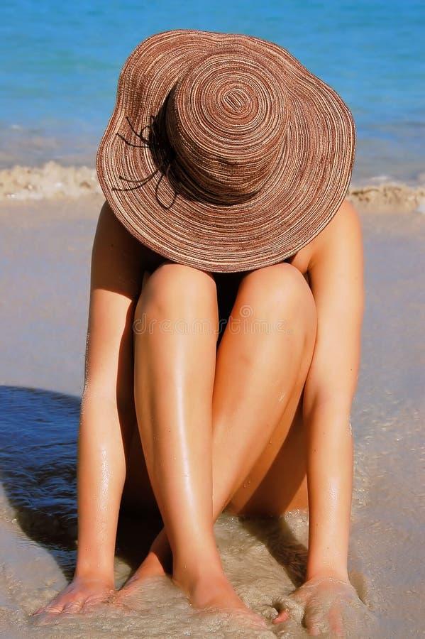 Femme de plage images stock