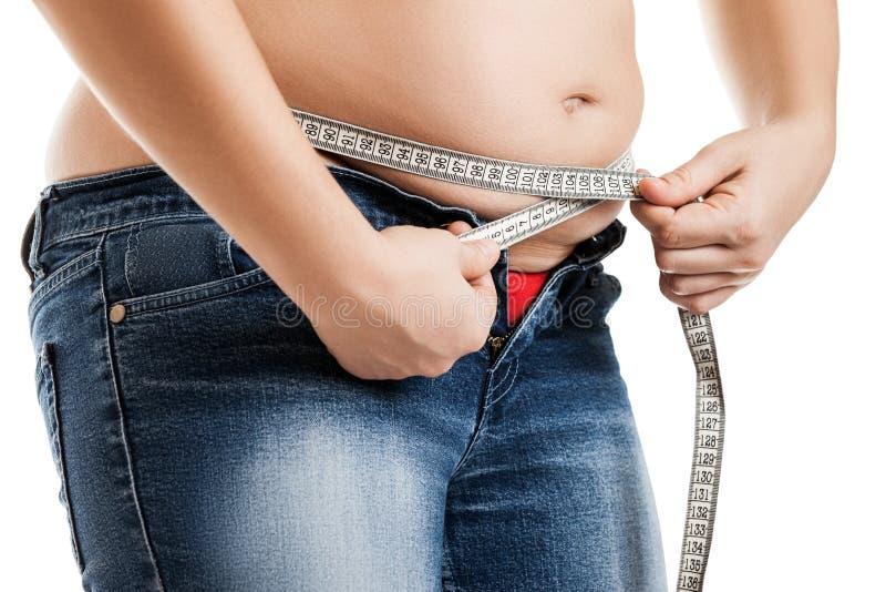 Femme de poids excessif photographie stock libre de droits