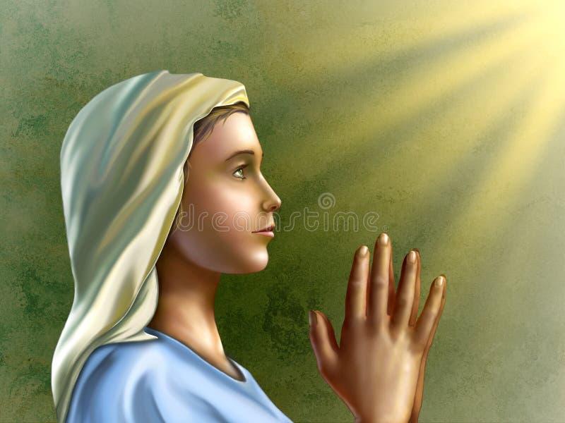 Femme de prière illustration stock