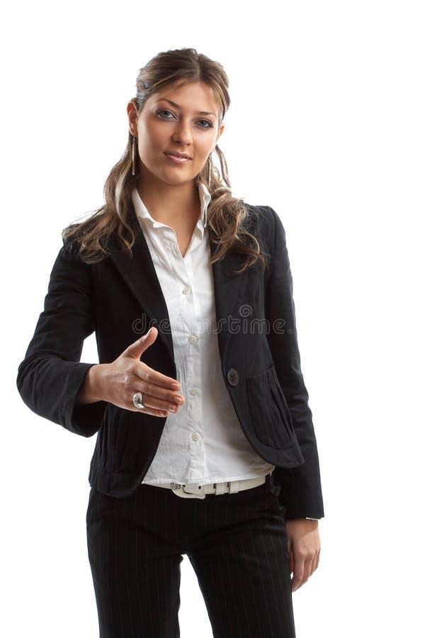 Femme de regard grande d'affaires photo libre de droits