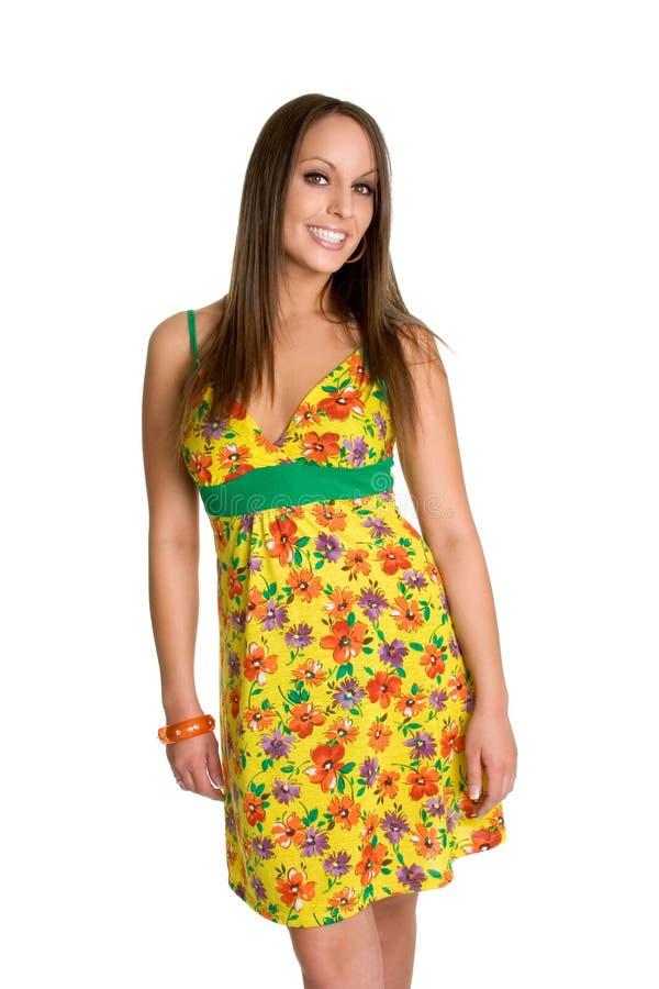 Femme de robe d'été photographie stock