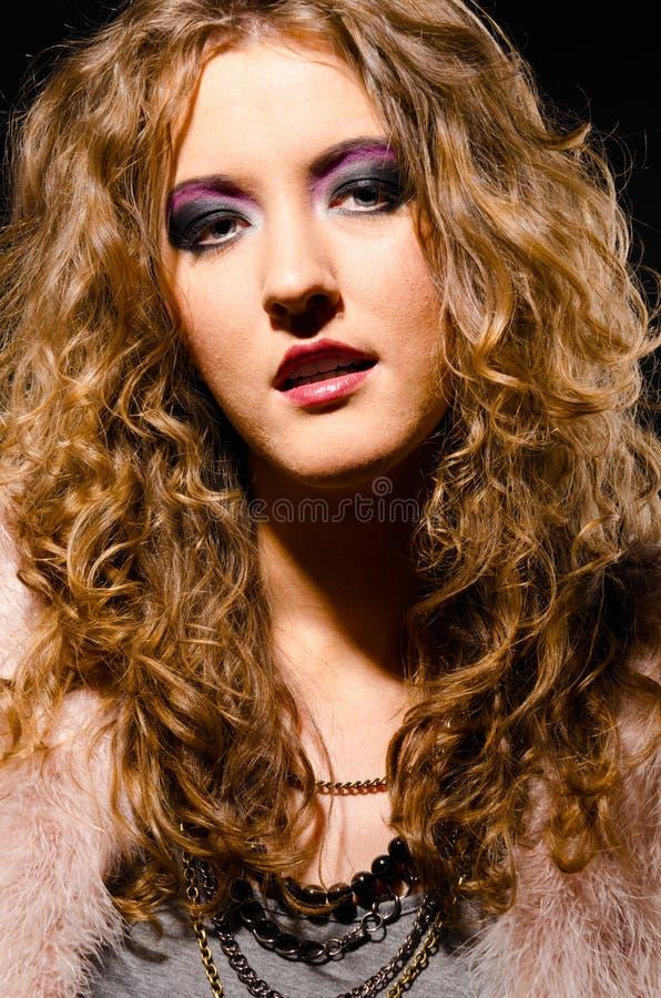 Femme de roche de Glam photographie stock libre de droits