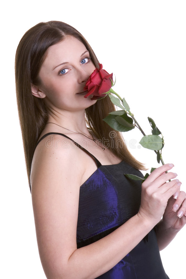 Femme de Rose photo libre de droits