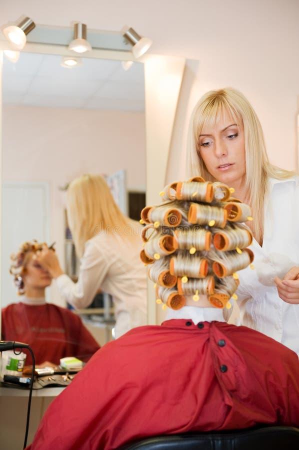 Download Femme de salon de beauté image stock. Image du tête, mode - 8661931