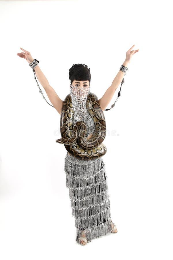 Femme de serpent images libres de droits