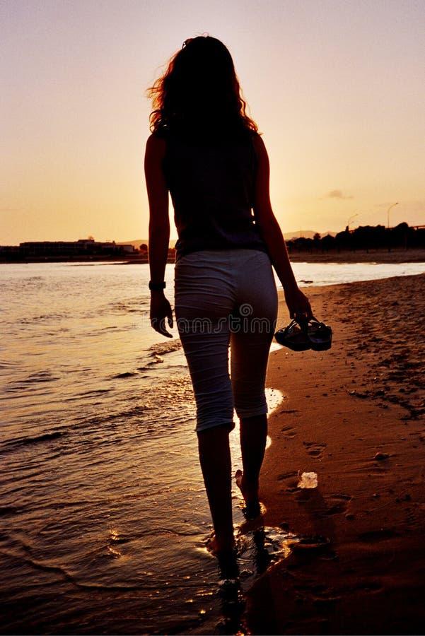 femme de silhouette photo stock