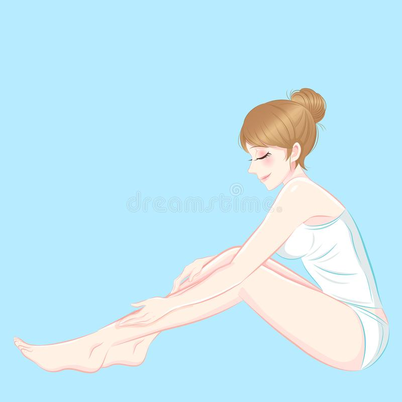Femme de skincaare de beauté illustration stock