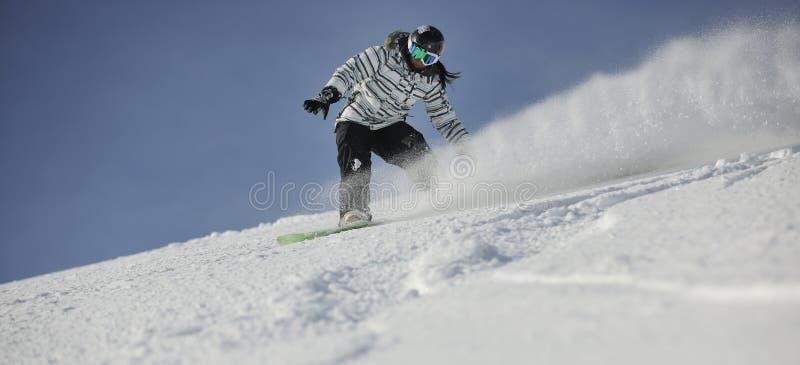 Femme de Snowboard image libre de droits