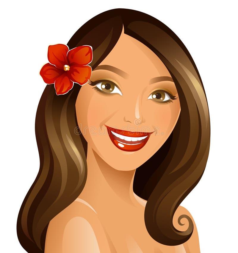 Femme de sourire illustration libre de droits