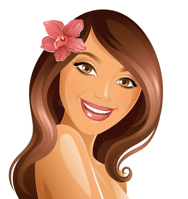 Femme de sourire illustration stock