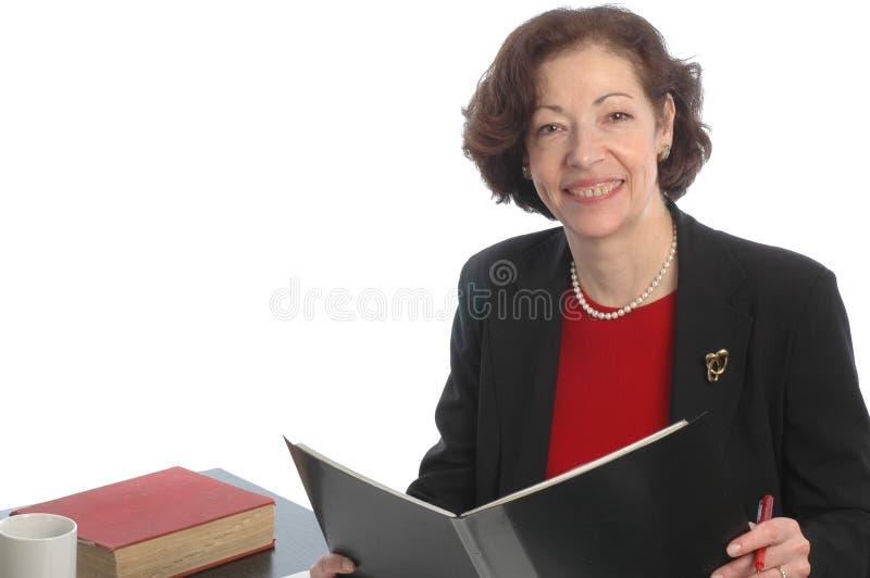 Femme de sourire 677 d'affaires image libre de droits