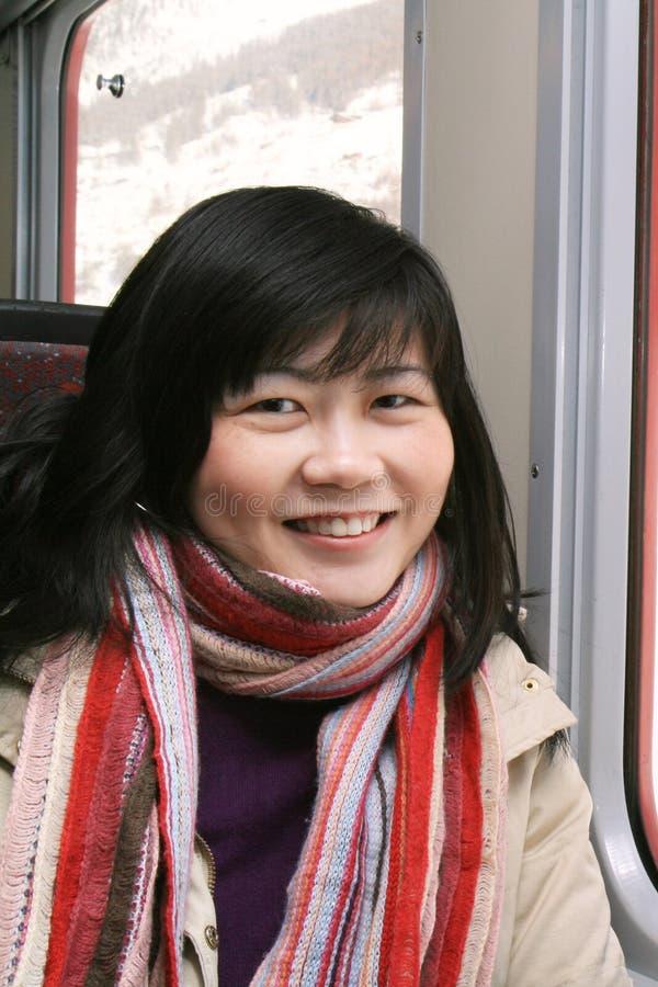 femme de sourire asiatique photographie stock