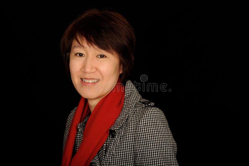 femme de sourire asiatique image stock