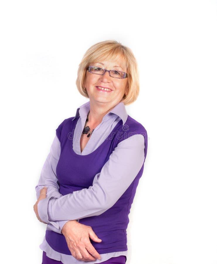 Femme de sourire d'affaires images libres de droits