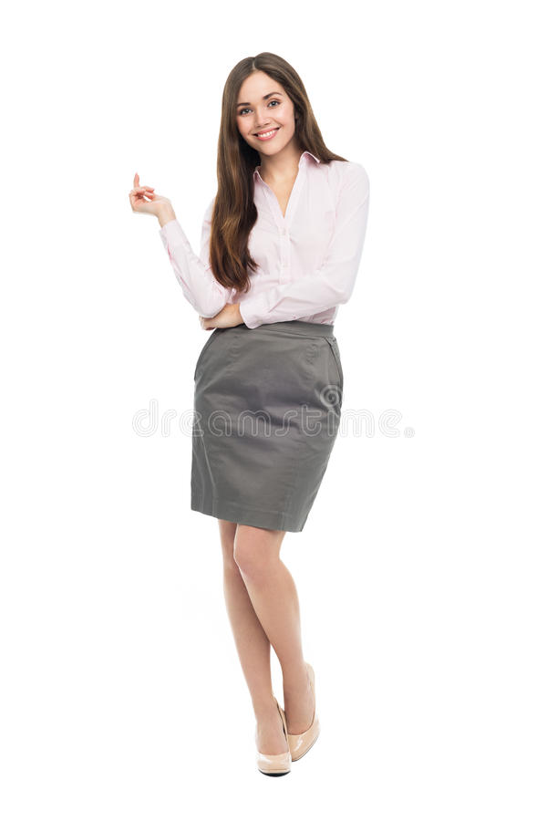 Femme de sourire d'affaires photos libres de droits