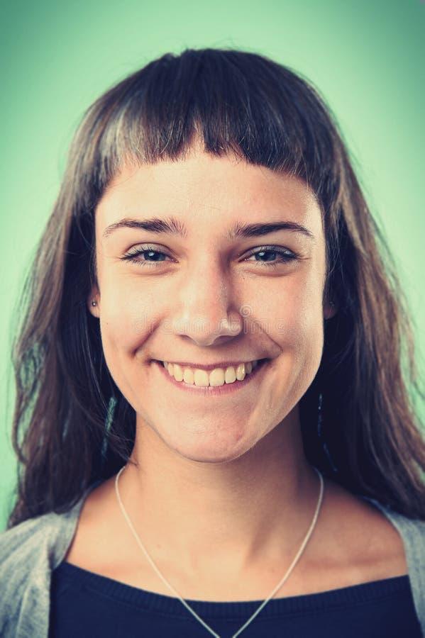Femme de sourire de portrait images stock