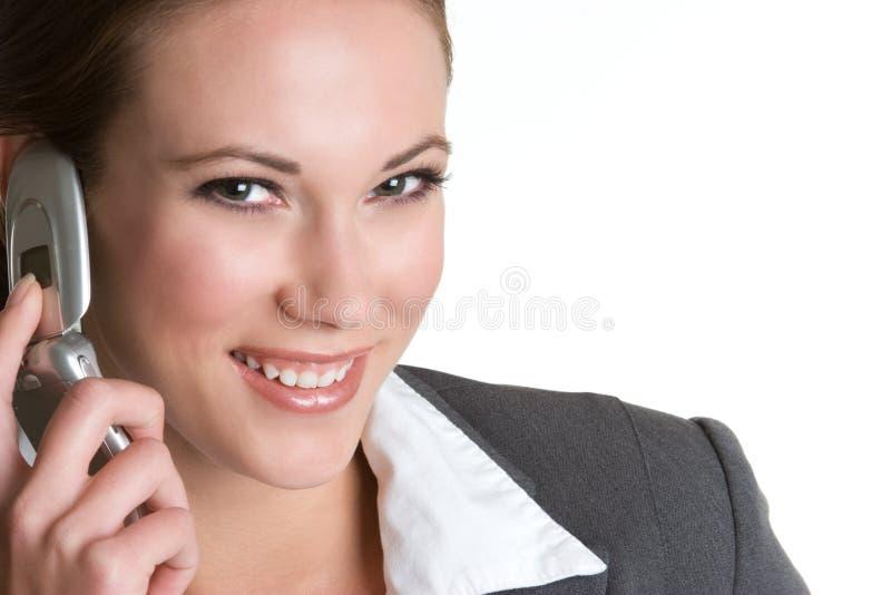 femme de sourire de téléphone images stock