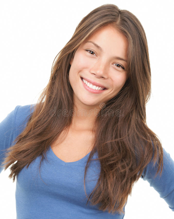 Femme de sourire - multiraciale photographie stock libre de droits