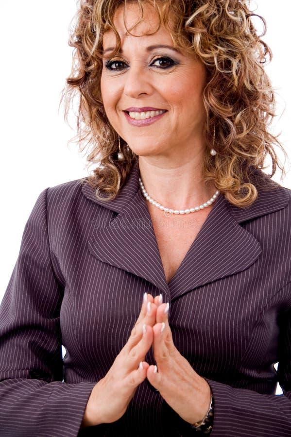 femme de sourire plus âgée amicale photographie stock libre de droits