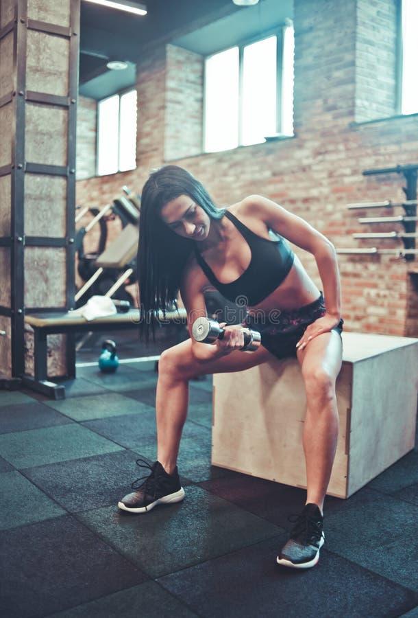 Femme de sport image stock
