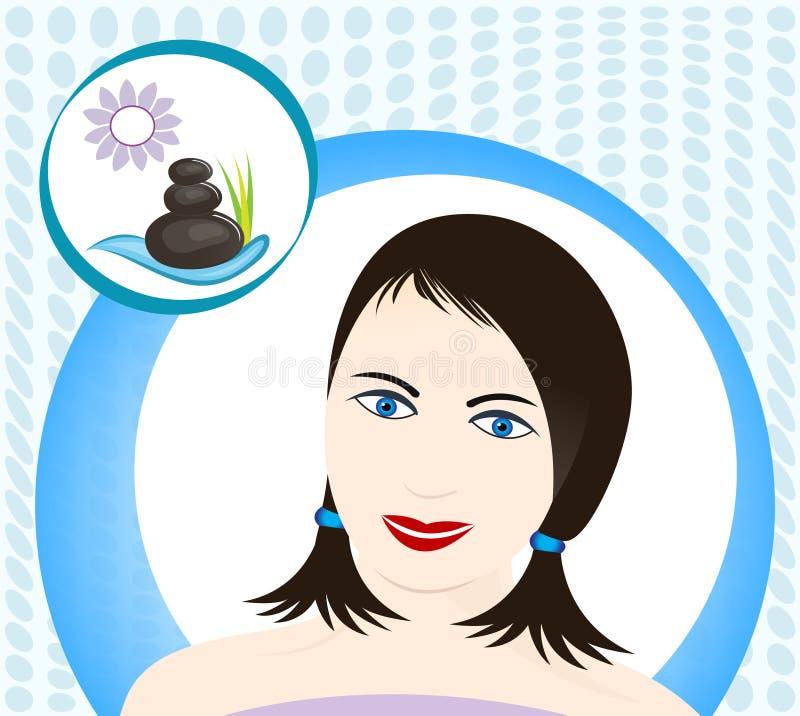 Femme de station thermale illustration de vecteur
