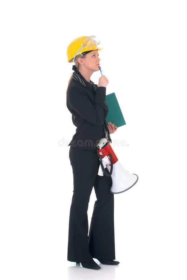 femme de superviseur de construction photographie stock