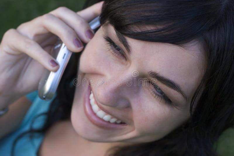 Femme de téléphone photographie stock libre de droits