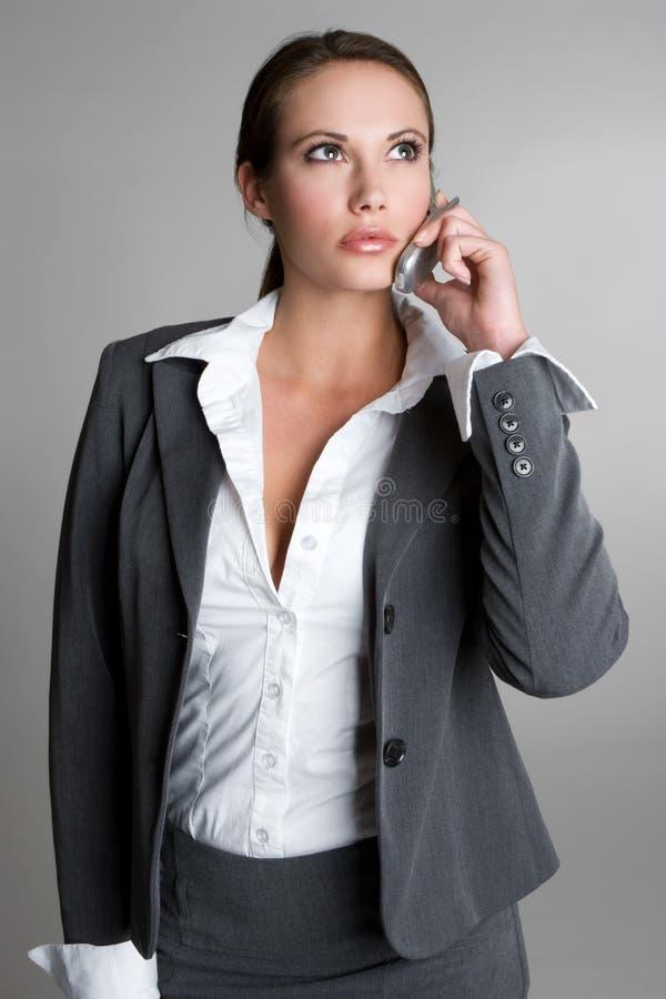 Femme de téléphone photos stock