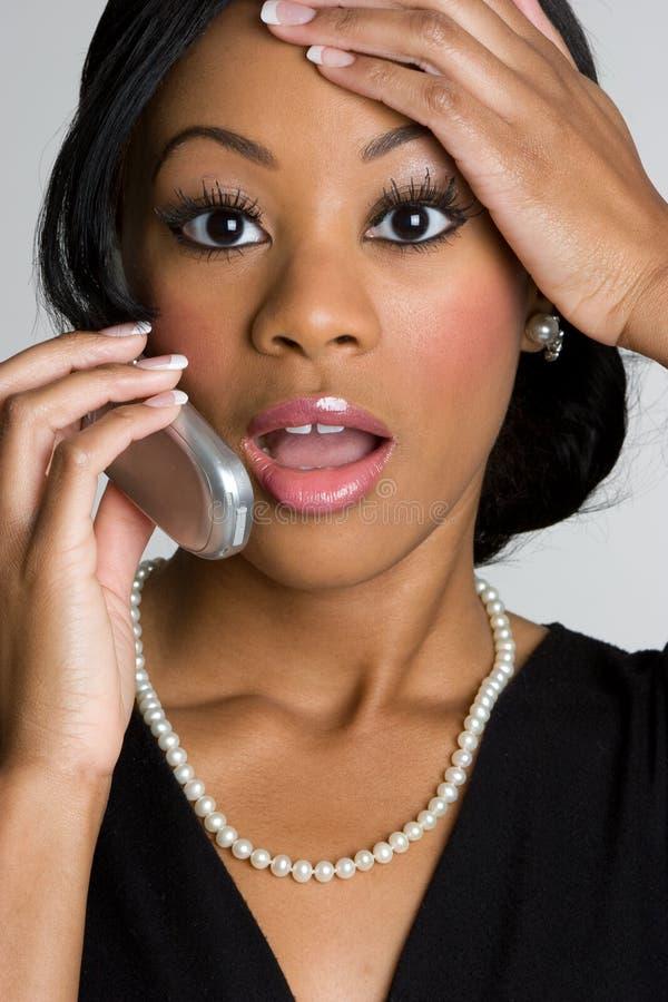 Femme de téléphone photo libre de droits