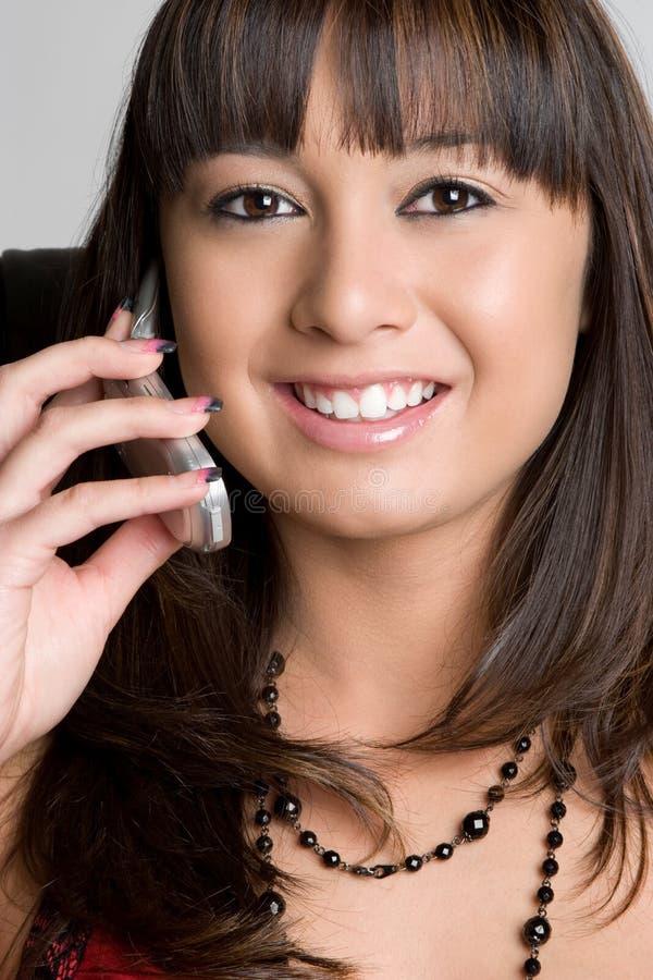 Femme de téléphone photographie stock