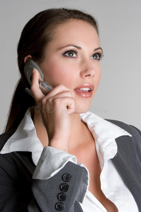 Femme de téléphone d'affaires photo libre de droits