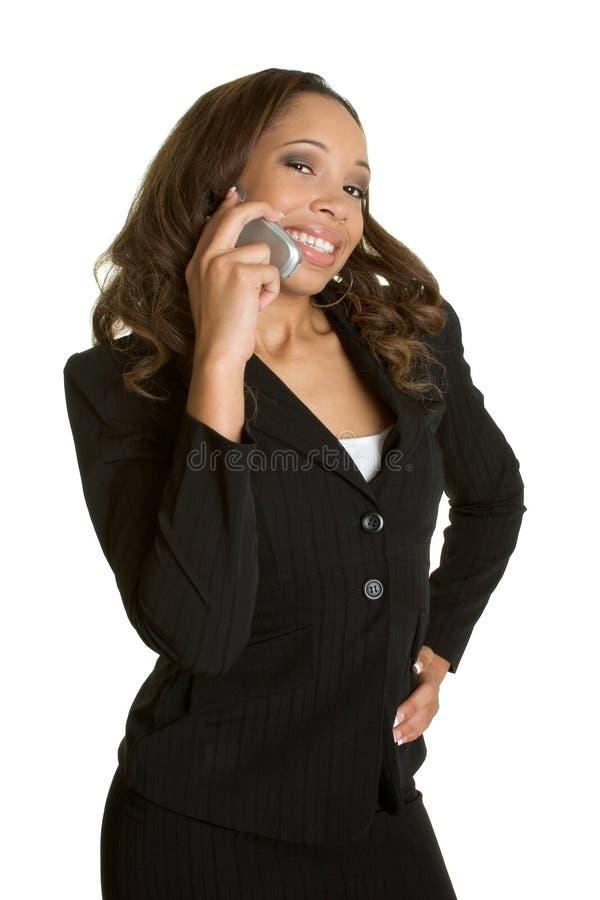 Femme de téléphone d'Afro-américain photographie stock