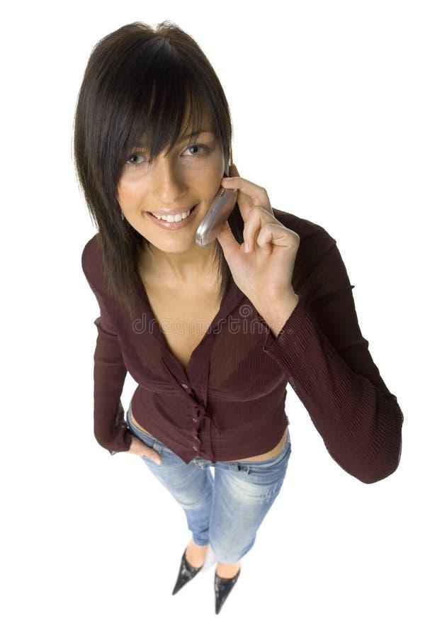 femme de téléphone portable image libre de droits