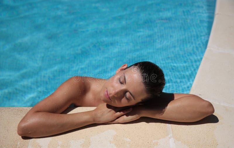 Femme de vacances image libre de droits