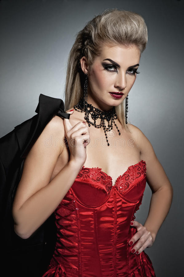 Femme de vampire photographie stock