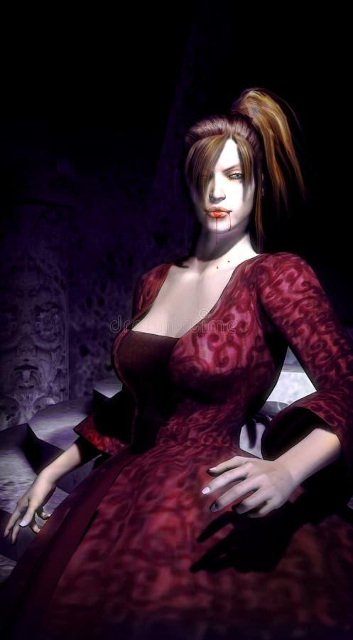 Femme de vampire illustration libre de droits
